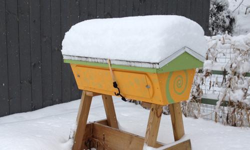 winter top bar hive